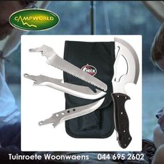 Tuinroete Woonwaens stock a range of high quality utility knives and tools. We have a wide variety of these products, visit us in store and come have a look at them. #tools #outdoorliving #camping