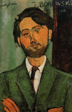 Leopold Zborowski - Amedeo Modigliani , 1916 Italian 1884-1920 oil on canvas , 65 cm (25.59 in.), 43 cm (16.93 in.)