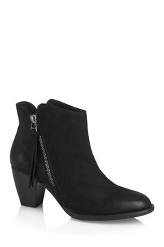 aa50332bb Heeled ankle boot with double side zip