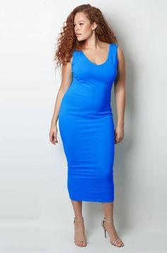 Final Sale Clearance – REBDOLLS. Blue Midi DressFinal ... 593ea2dc0