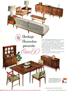 Thats my buffet on the bottom right!  So cool!  Heritage-Henredon CIRCA '60, 1953