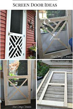 Ideas Wooden Screen Door Ideas Entryway For 2019 Wooden Screen Door, Diy Screen Door, Sliding Screen Doors, Diy Door, Wooden Doors, Home Improvement Projects, Home Projects, Wooden Diy, New Homes