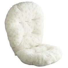 Swivel Rocker Fuzzy Cushion - Sand