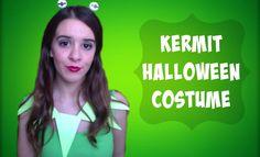DIY Kermit Costume #DIY #Craft #Kermit #Muppets #MuppetsCostume #KermitCostume #LastMinuteCostume #Halloween #Costume