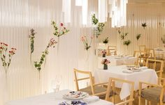 Designed by Japanese architectural firm, Kengo Kuma & Associates, Nacrée's brightly-lit interior is highly distinctive, with a focus on transparency in spatial design and materiality.