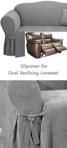2 seat reclining sofa cover italian leather sofas and loveseats 8 best slipcovers images covers pull out bed dual loveseat slipcover suede grey sure fit gray seater