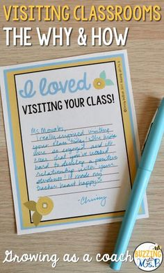 Buzzing with Ms. B: Visiting Classrooms: The Why and the How - If you& a new instructional coach, or new to a campus, or you have new teachers, or for a whole slew of reasons, you probably have a lot of questions. The most important question to you School Leadership, Educational Leadership, Educational Websites, Leadership Quotes, Teamwork Quotes, Learning Quotes, Educational Technology, Education Quotes