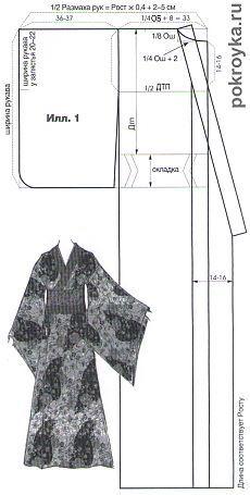 New Dress Pattern Kimono Ideas Traditioneller Kimono, Motif Kimono, Sewing Patterns Free, Clothing Patterns, Dress Patterns, Kimono Sewing Pattern, Costume Patterns, Pattern Drafting, Barbie Clothes