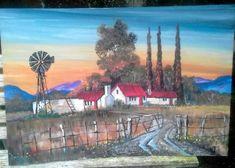 large painting by wWilma Potgieter Farm Paintings, Large Painting, Artist, Animals, Animales, Animaux, Animal Memes, Animal, Animais