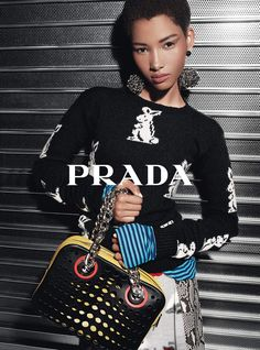 Lineisy Montero by Steven Meisel for Prada Resort 2016 Campaign