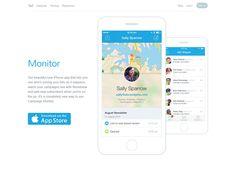 Monitor - Clean Flat Design Website