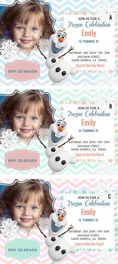 Frozen Printable Birthday Invitation - Olaf Invitation