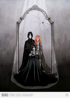 What Snape sees in the Mirror of Erised. So sad!