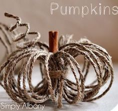 DIY Twine Pumpkins {fall crafts} This creative take on a pumpkin is the perfect addition to your Fall decor! Easy to make using a ball of twine and a cinnamon… Thanksgiving Crafts, Holiday Crafts, Spring Crafts, Fall Crafts For Adults, Decor Scandinavian, Fall Projects, Diy Projects, Pumpkin Crafts, Diy Pumpkin