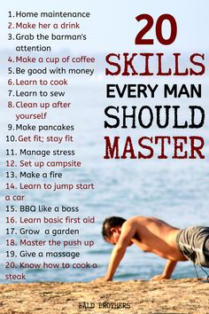 20 Skills every guy should know to live life the best way possible. These are basic life skills every man should know! A Good Man, Good To Know, Best Hobbies For Men, Skills To Learn, Self Improvement Tips, Every Man, Useful Life Hacks, Self Development, Leadership Development