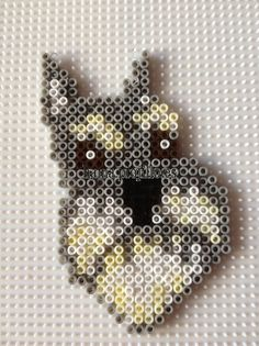 Perro. Schnauzer dog hama beads, perler beads, bead sprotes, nabbi fuse melty beads by Ana y Santi