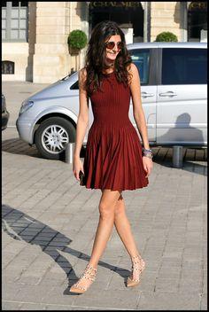 Giovanna Battaglia. Love the fit and flare silhouette!