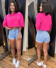 Stylish Summer Outfits, Casual Outfits, Cute Outfits, Jean Short Outfits, Crop Top Outfits, Torn Jeans, Blue Jeans, Teen Fashion, Fashion Outfits