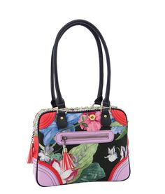 Spencer and Rutherford - quick_link - Shoulder Bag - Nina - Tantalising - Perfect for Spring Races - Red - Black - Lilac
