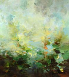 Suzanne  Onodera - Suzanne Onodera Lush an abstract atmospheric landscape oil painting at Seager Gray Gallery in Mill Valley CA in the San F...