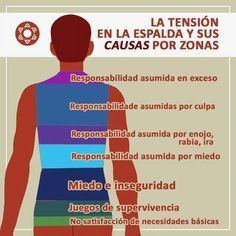 Causes de tension en la espalda/ causes of a tense back Health And Nutrition, Health Tips, Health And Wellness, Health Fitness, Health Care, Massage Therapy, Art Therapy, Reiki, Detox Tips