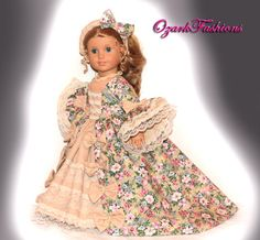 American Girl Doll Dress Marie Antoinette by OzarkFashions, $60.00