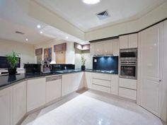 White Kitchen Grey Worktop white gloss kitchen grey worktop grey floor - google search | nase