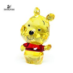 """Retail: $100 Swarovski Crystal Figurine CUTIE WINNIE THE POOH #5004737 Size: 2"""" tall x 1"""" wide New in original box Collect all of them! Check our store for others"""