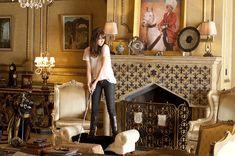 Emma Stone-Bill Murray's fireplace