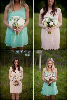 spring bridesmaid bouquets