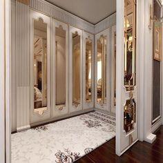 Bedroom Closet Design, Wardrobe Design, Closet Designs, Master Bedroom Design, Dressing Room Design, Luxury Closet, Classic Interior, Interior Exterior, Interior Design Living Room