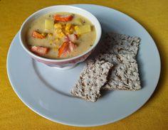 Aneta Goes Yummi: Chowder, čiže krémová polievka s údenou rybou a kukuricou