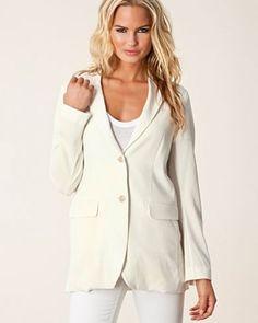 Kavaj Joey Crepe Jacket från Filippa K Gorgeous Blonde, Coat, Jackets, Women, Fashion, Damask, Down Jackets, Moda, Fashion Styles