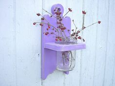 Shabby chic wall vase holder wood sconce, $25.00  by Twigs2Whirligigs