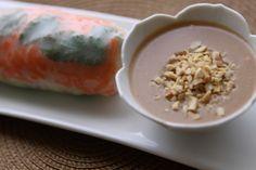 NOURISH:  Summer Rolls with Peanut Sauce...Gluten Free, Vegan and Yummy!