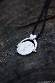 Zilveren 'zwiep' hanger 'ik heb je lief' | Silver 'swish' pendant 'I adore you' I Adore You, Handmade Jewellery, Contemporary Jewellery, Artist At Work, Hanger, Cufflinks, Pendant, Fun, Inspiration