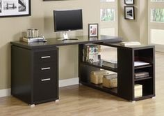 @Michelle - i think this one is the front runner.... Monarch Specialties I 7019 Cappuccino Hollow-Core Left Or Right Facing Corner Desk
