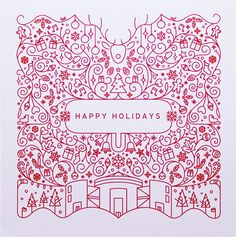 A Stunning Collection of 50 Designer Christmas Cards For Your Inspiration – Design School