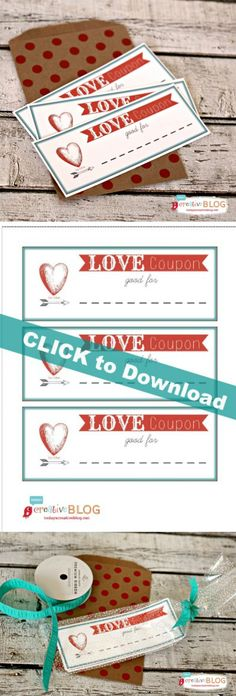Printable Valentine Coupons  TodaysCreativeBlog.net