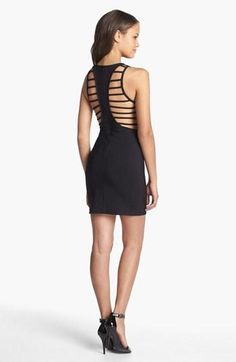 Lush Cage Back Body-Con Dress (Juniors) | Nordstrom