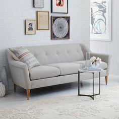 "Finn 75"" Sofa, Chenille Tweed, Frost Gray"