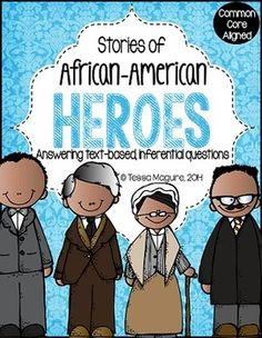 Get ready for state testing by using rigorous and engaging texts on African American heroes to practice open ended comprehension questions.  A passage and questions on Martin Luther King, Jr. are provided for FREE in the Preview file.