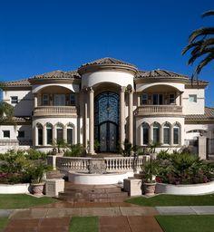 Diseño de casas exterior Architecture Design, Dream Mansion, Luxury Homes Dream Houses, Dream Homes, Luxury House Plans, Dream House Plans, Mediterranean Homes, Mediterranean House Exterior, Dream Home Design