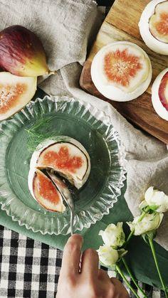 How to make no bake fig cheesecake.