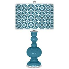 Great Falls Circle Rings Apothecary Table Lamp -