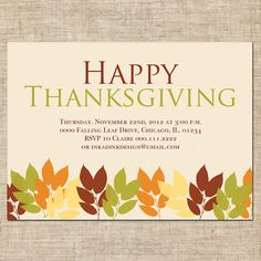 Thanksgiving Invitations  Thanksgiving    Thanksgiving