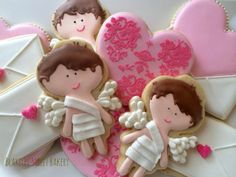 Valentine Cookies | Cupid | Love Letters https://www.facebook.com/pages/Blakeley-Street-Bakery/110290735731362