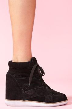 Venice Wedge Sneaker - Black