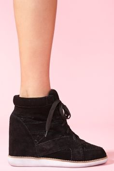 Venice Wedge Sneaker - Black