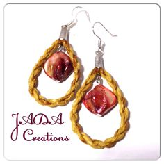 "The single MOP drop. Cedar woven earrings by Gitxsan/Nisga'a weaver Jaimie Davis. Email jada@jadacreations.net to inquire. @Jaimie Davis. Like my facebook page ""Cedar Weaving by Jaimie Davis"""